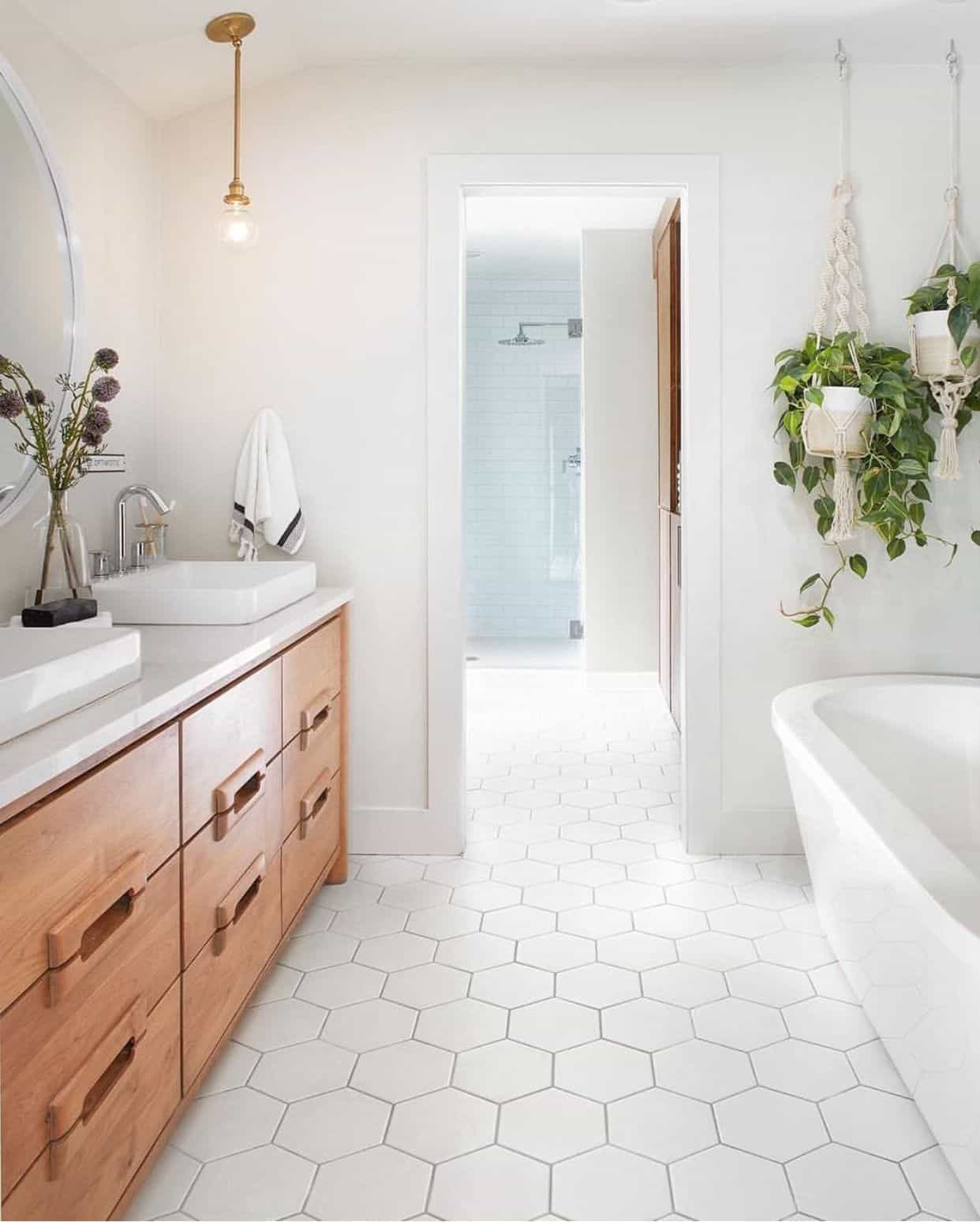 fresh master bathroom