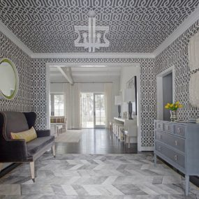 Wallpapered Foyers For An Elegant Entrance To Your Home