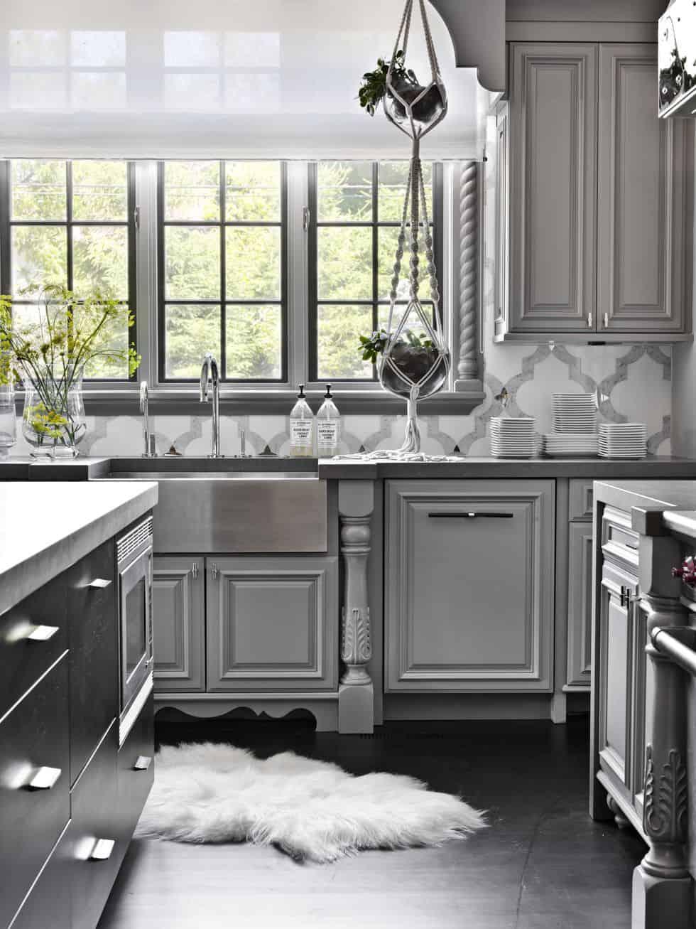 gray walls in kitchen