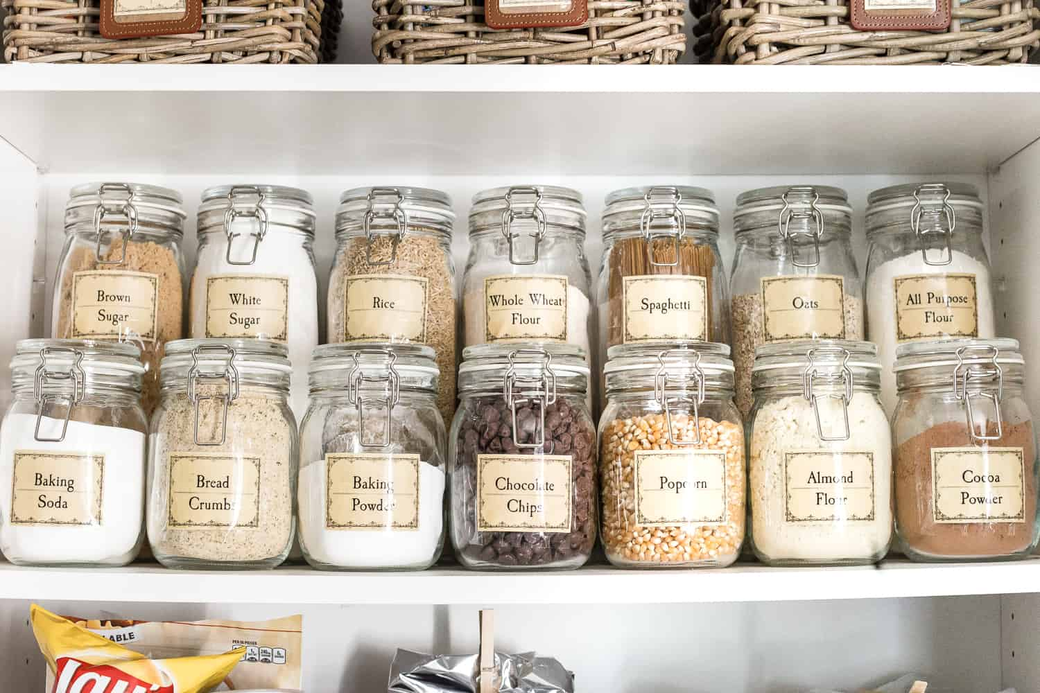 label your pantry
