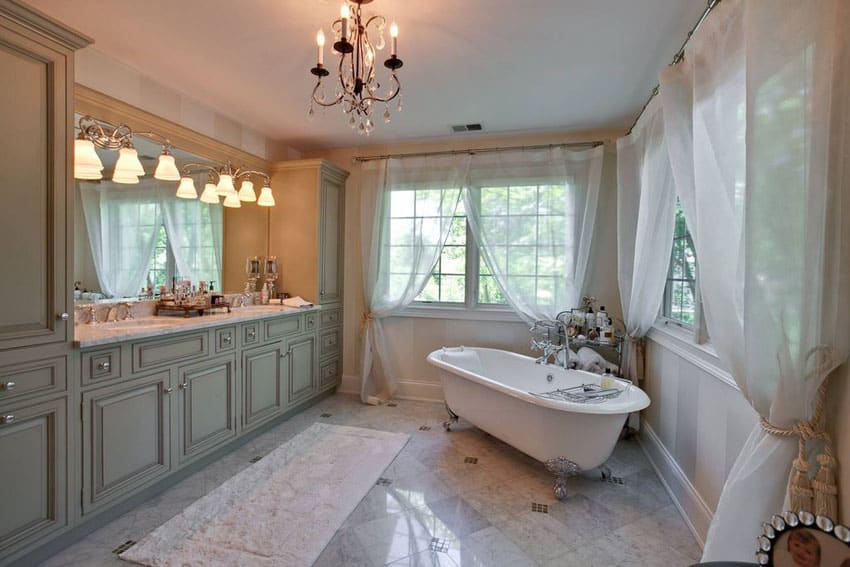 master bathroom with clawfoot tub Master Bathroom Ideas That Are A Simple Yet Charming
