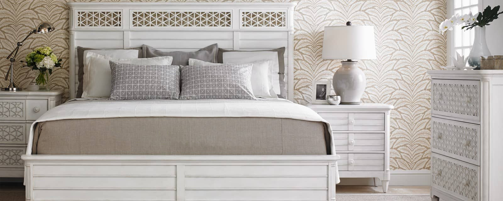 nightstand with bed Stylish Ways To Keep Your Home Organized