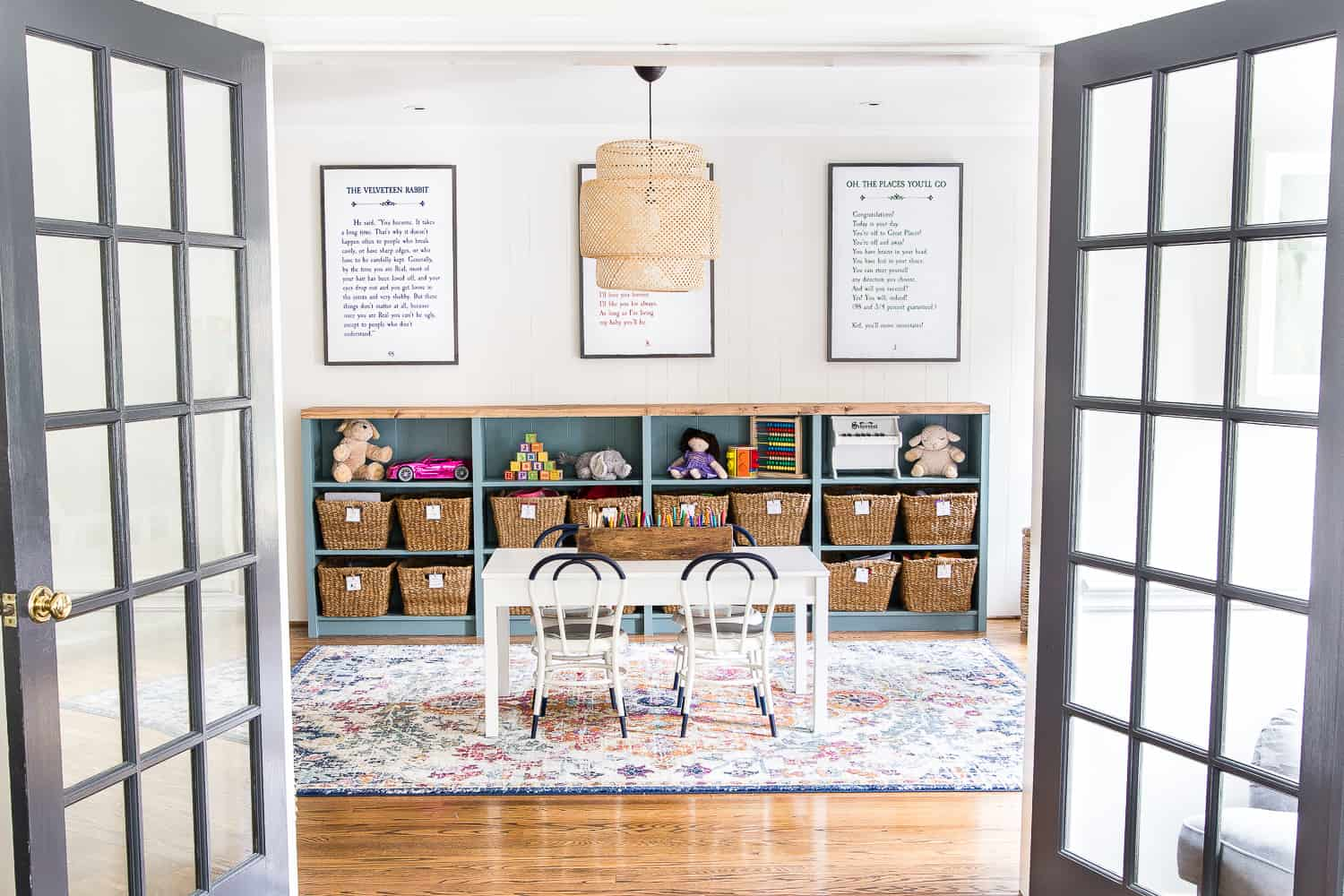 playroom with bookcase