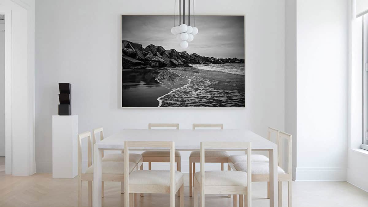art in minimal dining room