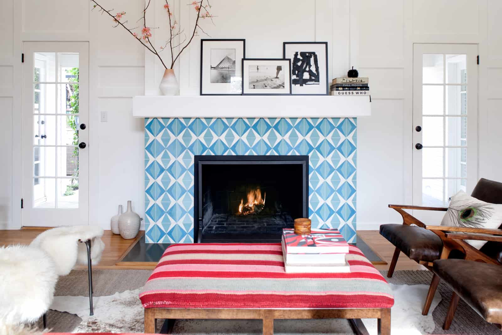 color fireplace
