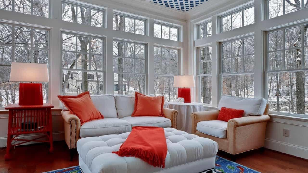 comfortable sunroom