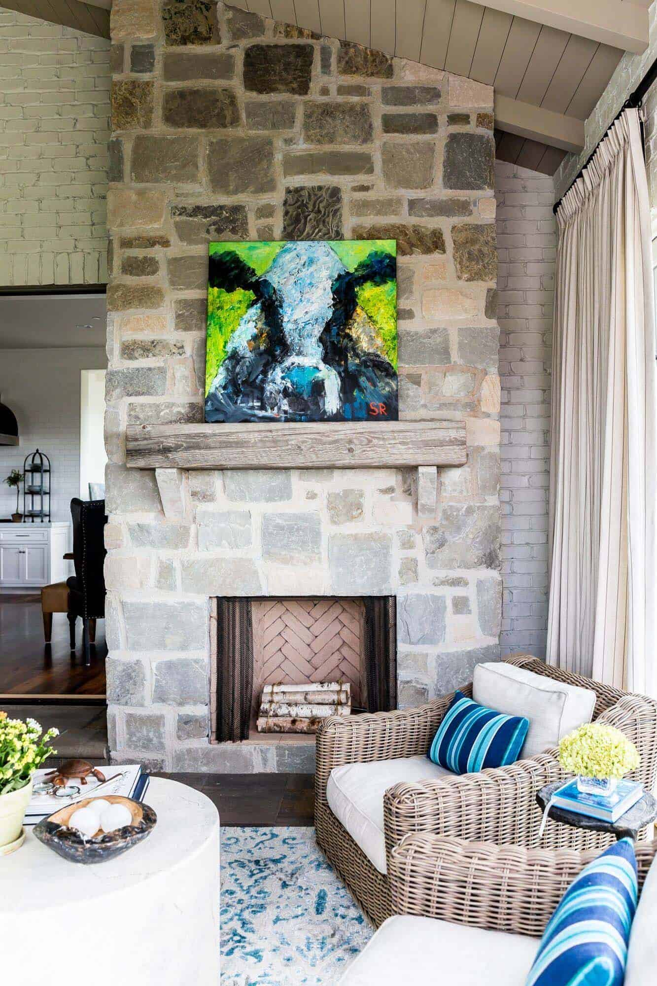 fireplace that blends in Chic Fireplace Remodeling Ideas