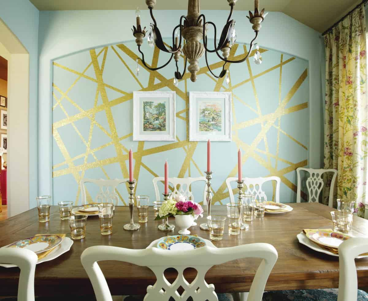 geometric free lines Geometric Walls That Bring Fun Into Any Room