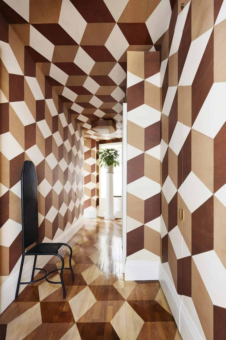 handpainted geometric walls