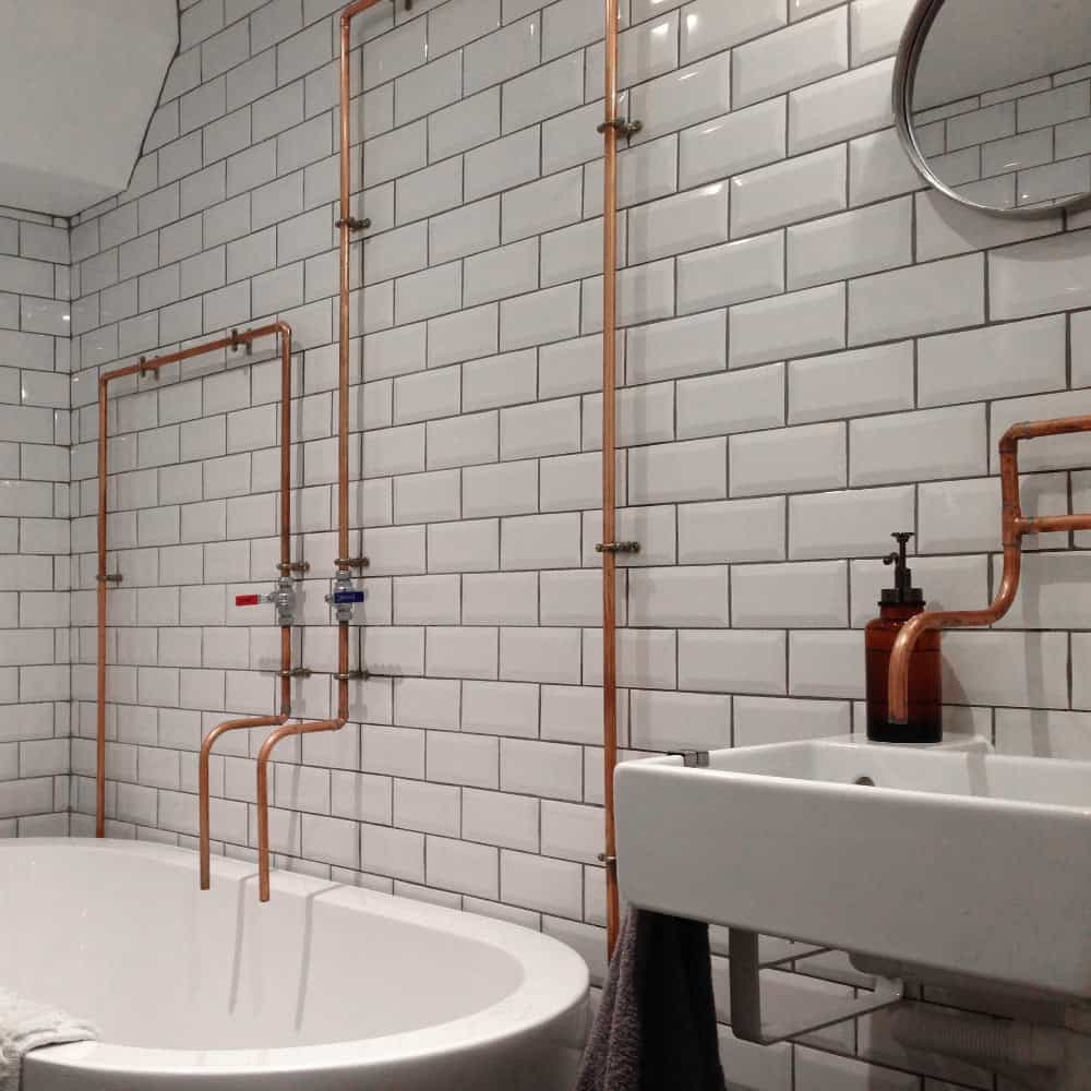 White Kitchen Designs 2019: Enchanting Bathrooms With Subway Tiles