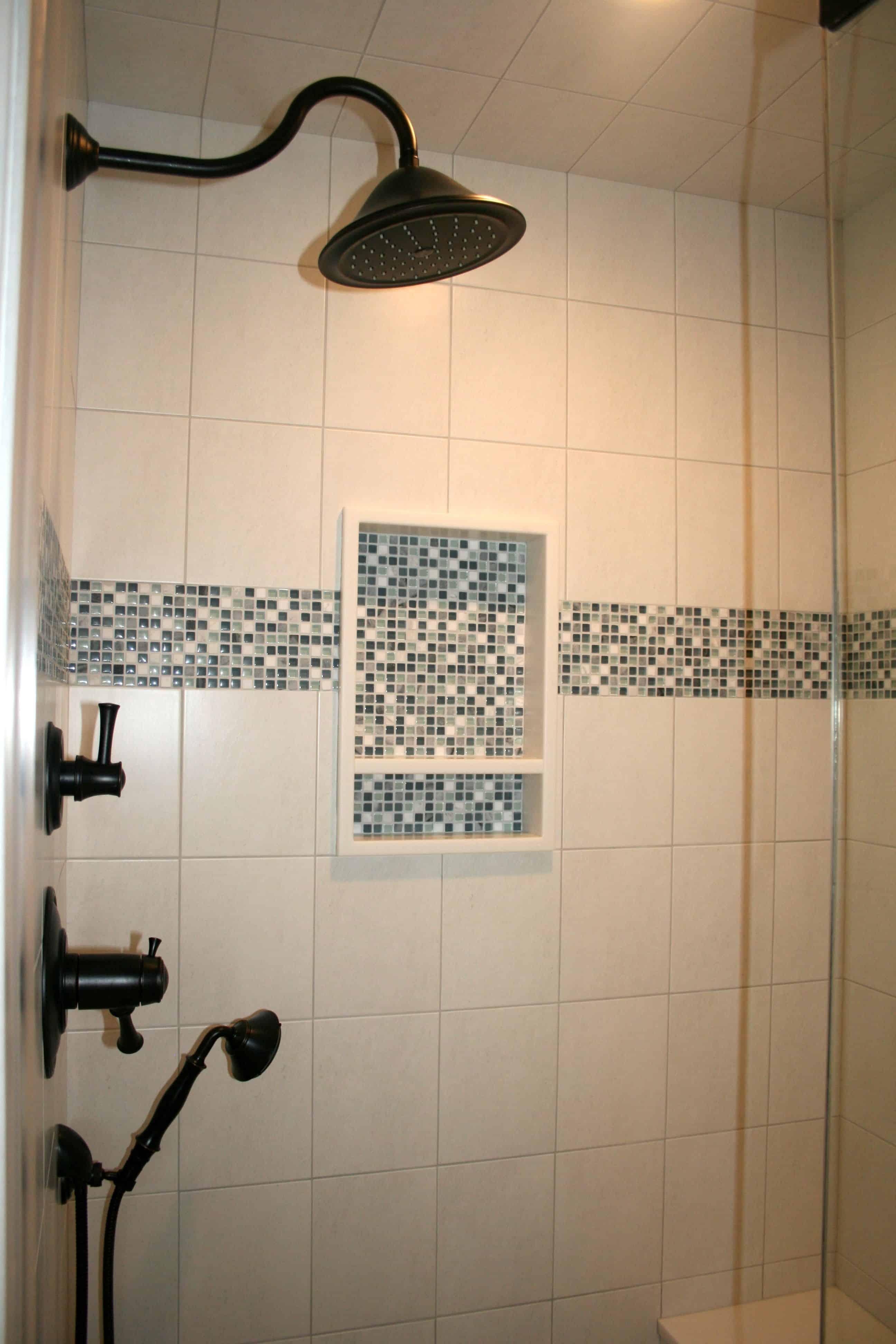 mosiac bathroom display Enchanting Bathrooms With Subway Tiles
