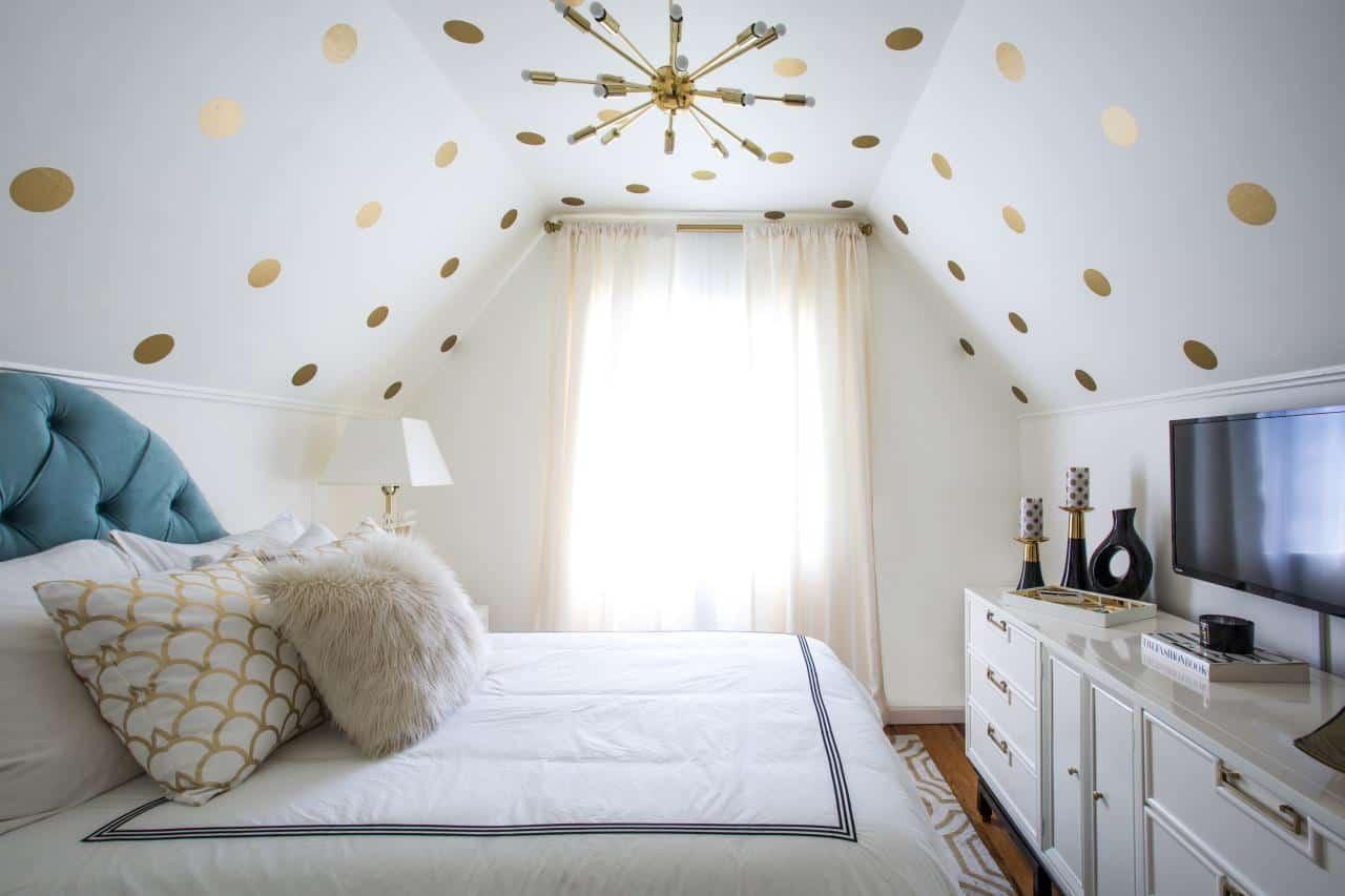 polka dot ceiling