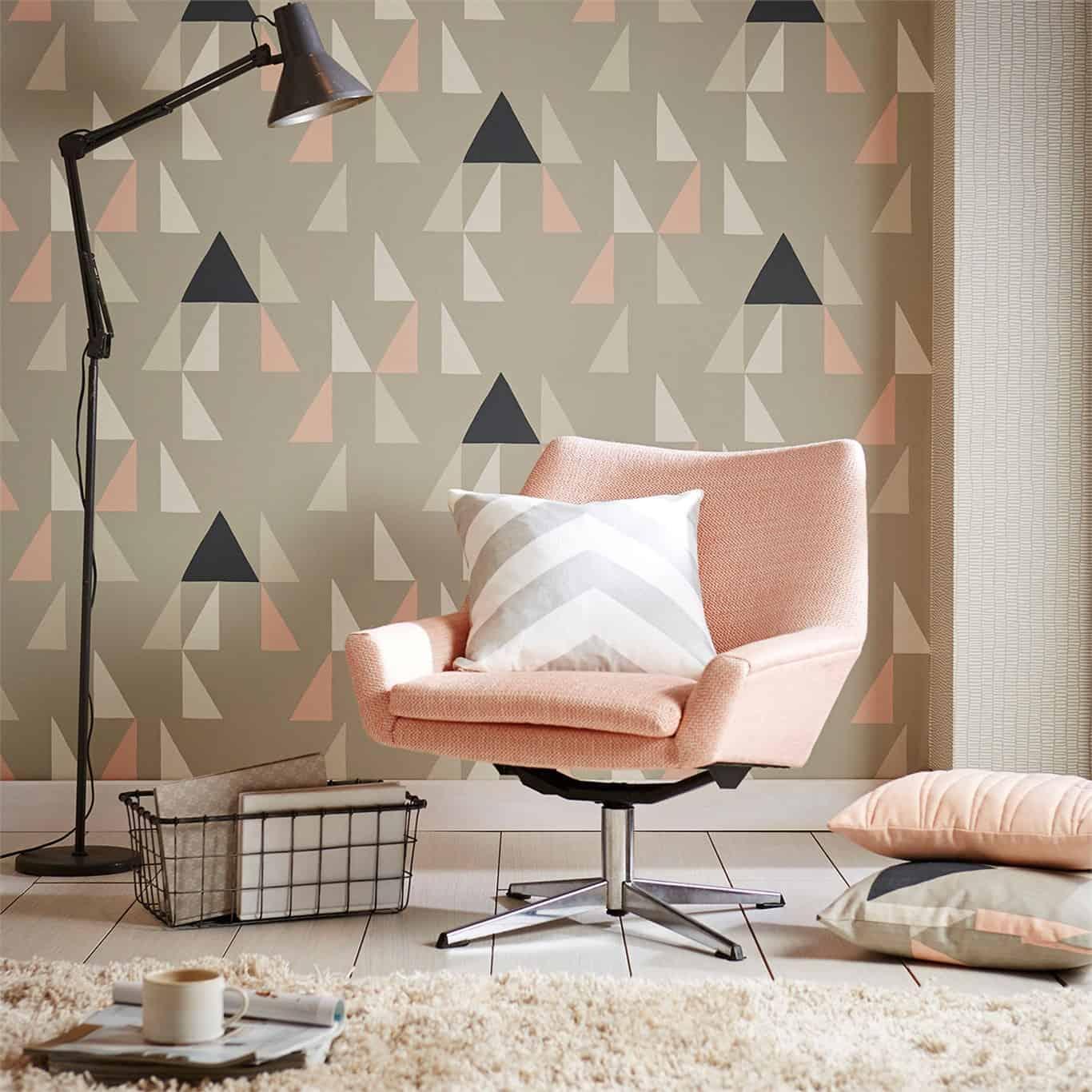 statement geometric wallpaper