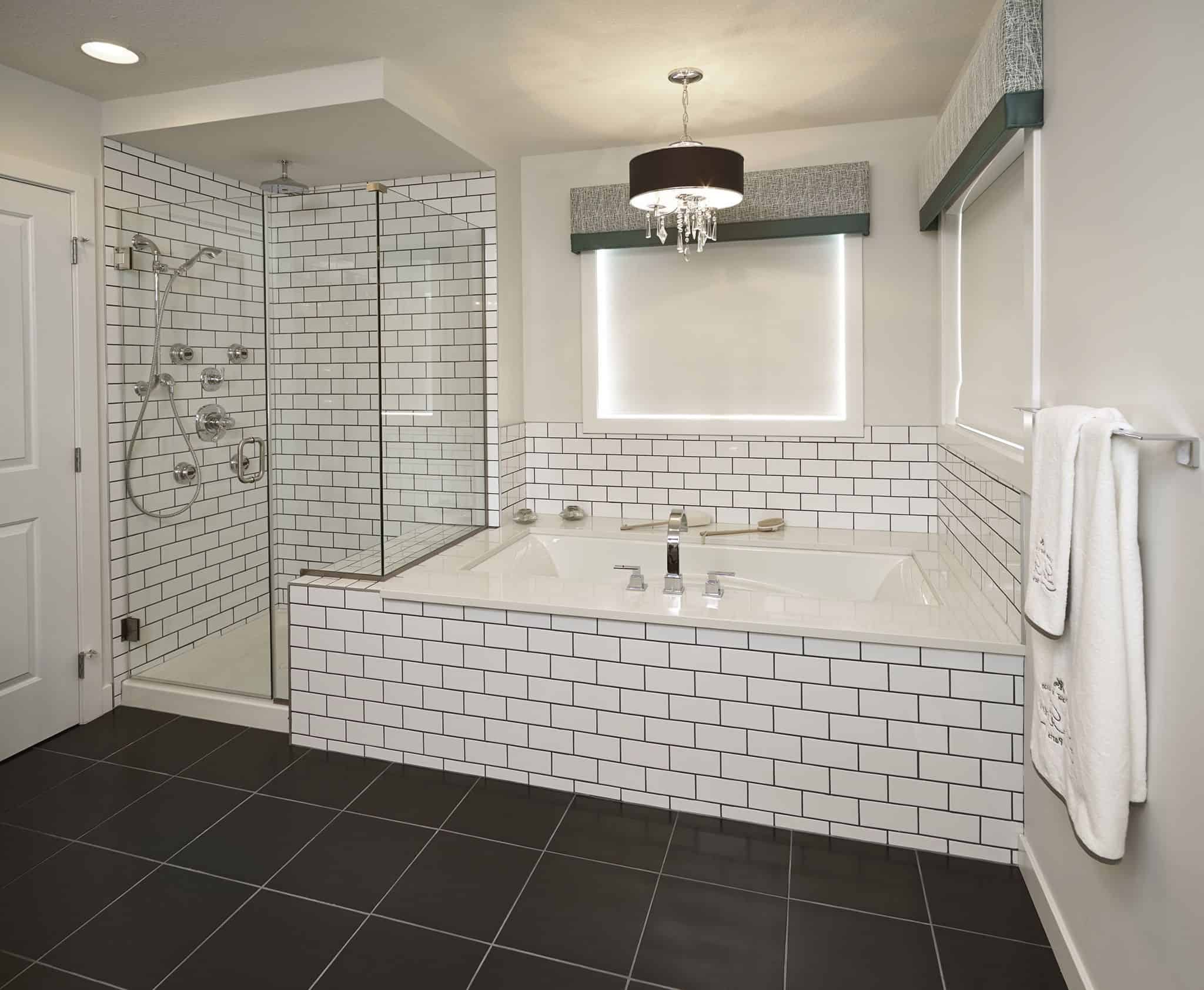 traditional tiling Enchanting Bathrooms With Subway Tiles