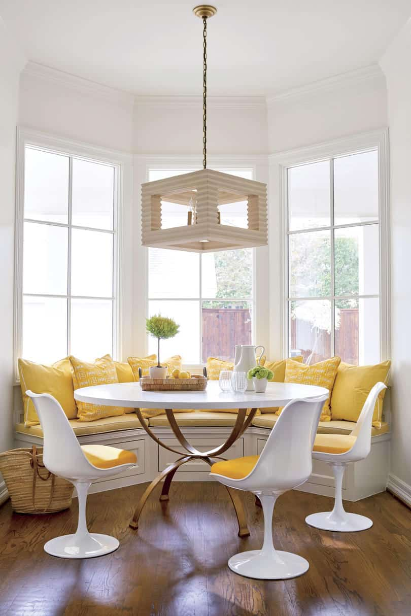yellow in kitchen nook