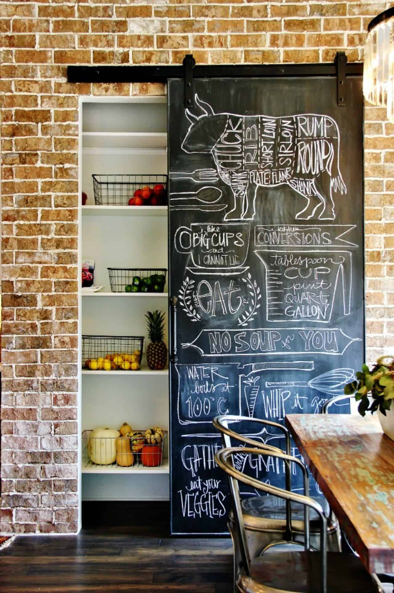 chalkboard barn doors Irreplaceable Ways To Decorate With Barn Doors