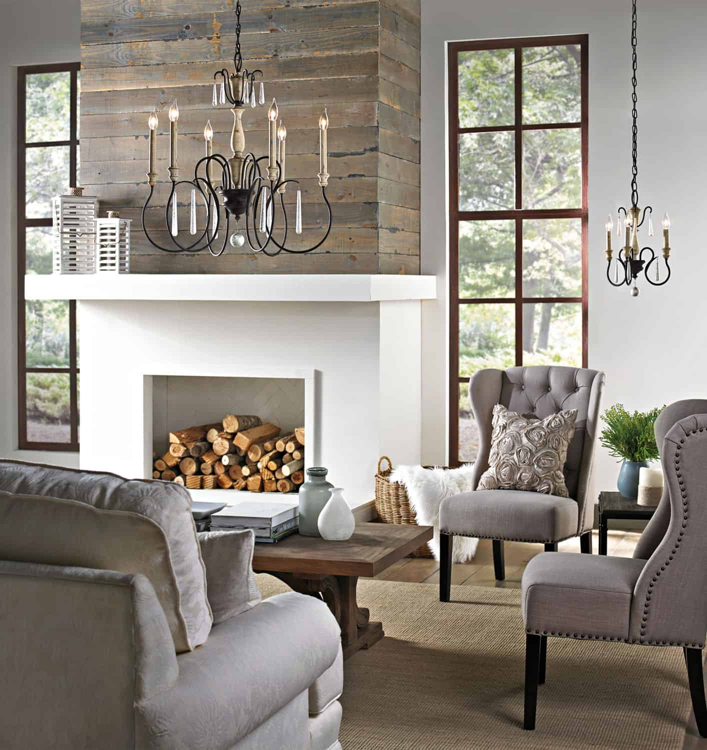 chandelier farmhouse