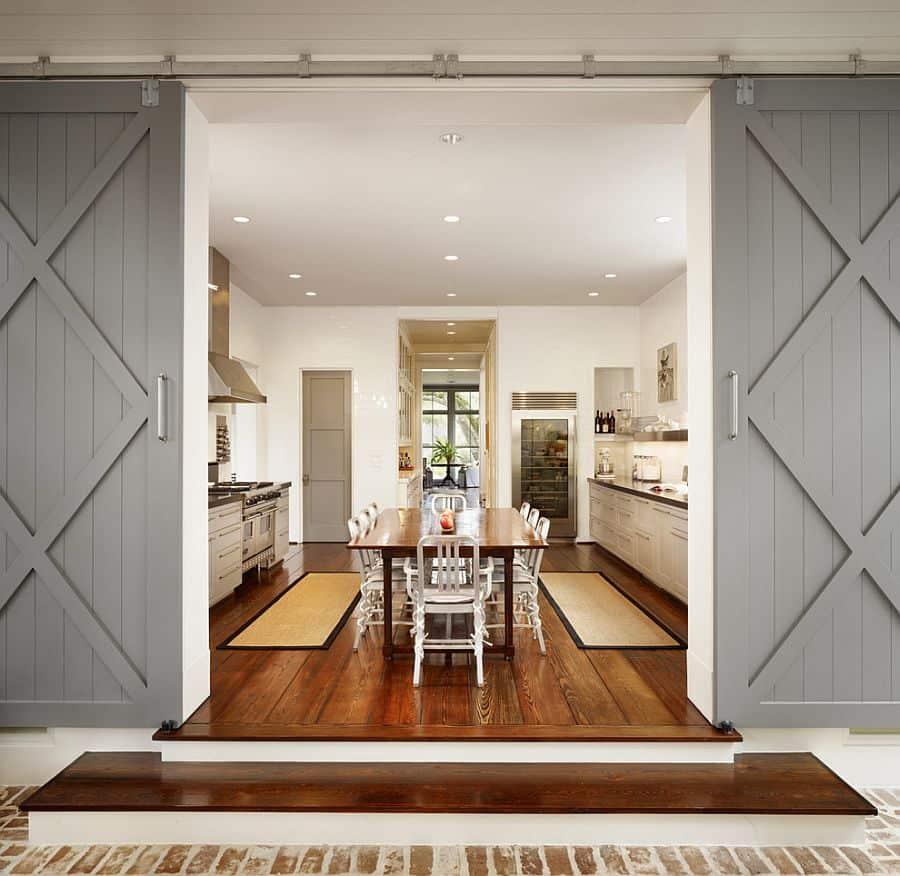 crisscross in barn doors