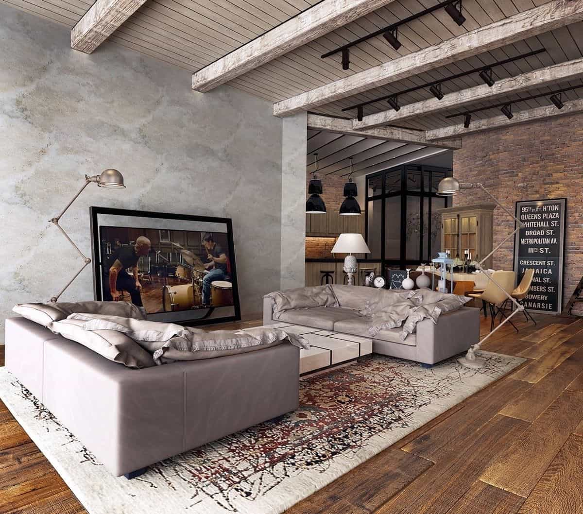 Fantastic Rustic Industrial Living Room Ideas To Inspire Download Free Architecture Designs Scobabritishbridgeorg