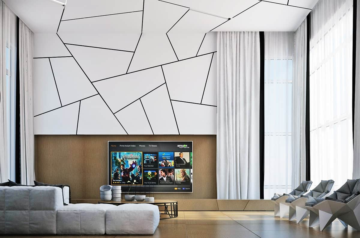 geometric wall unit