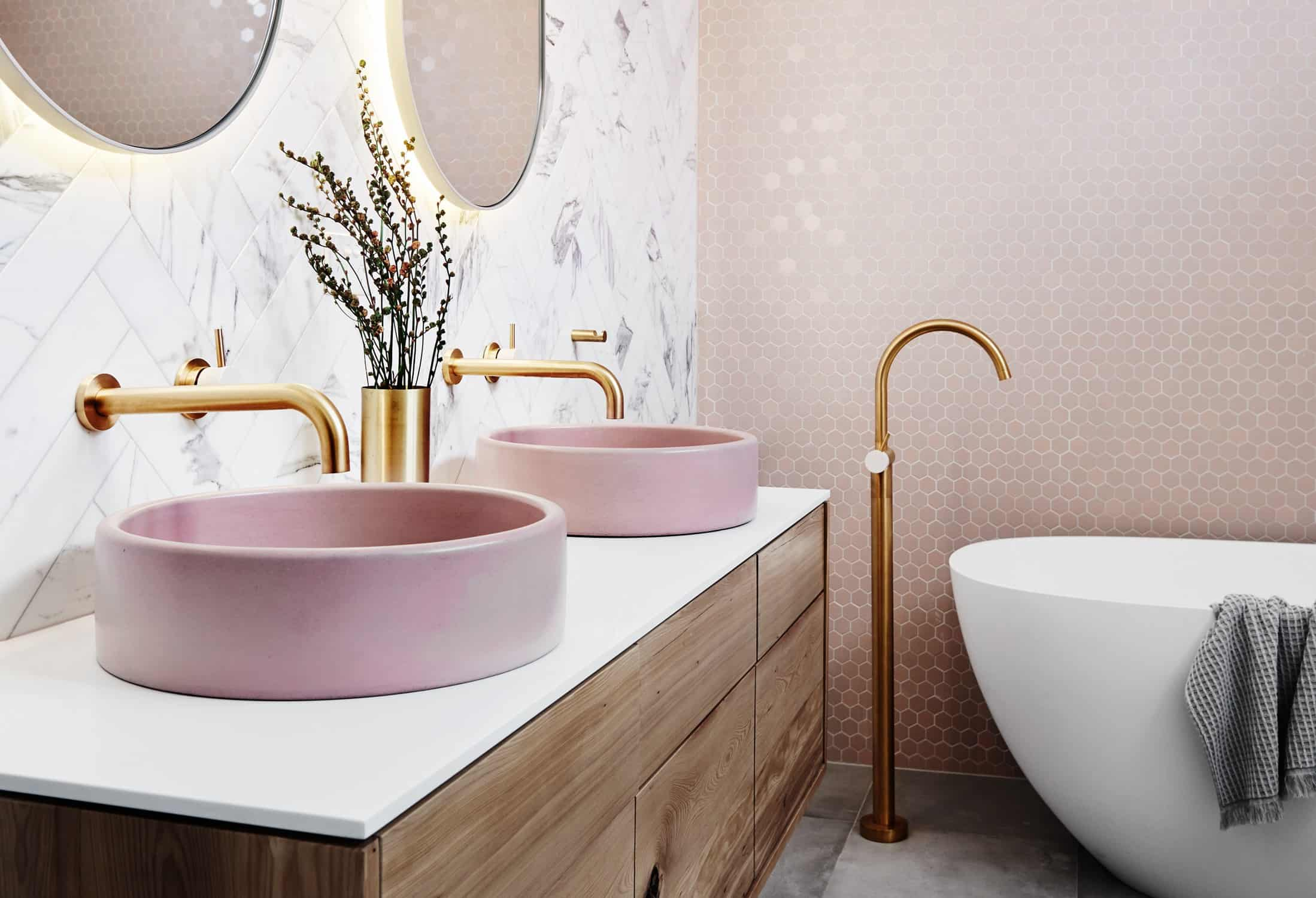 gold hardware bathroom Fun Ways To Decorate With Gold Finishes