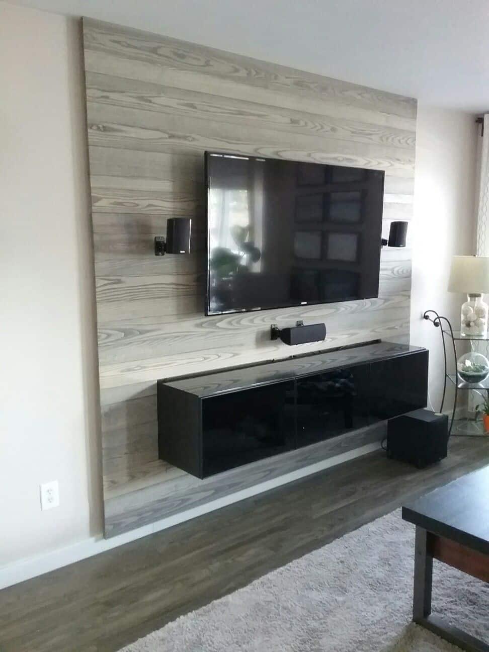 gray wood panel