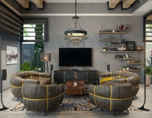 Rustic Industrial Living Room Ideas to Inspire