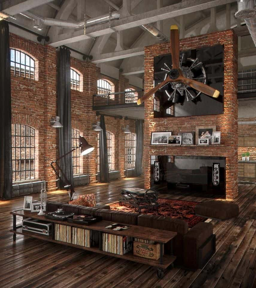 Awe Inspiring Rustic Industrial Living Room Ideas To Inspire Download Free Architecture Designs Scobabritishbridgeorg