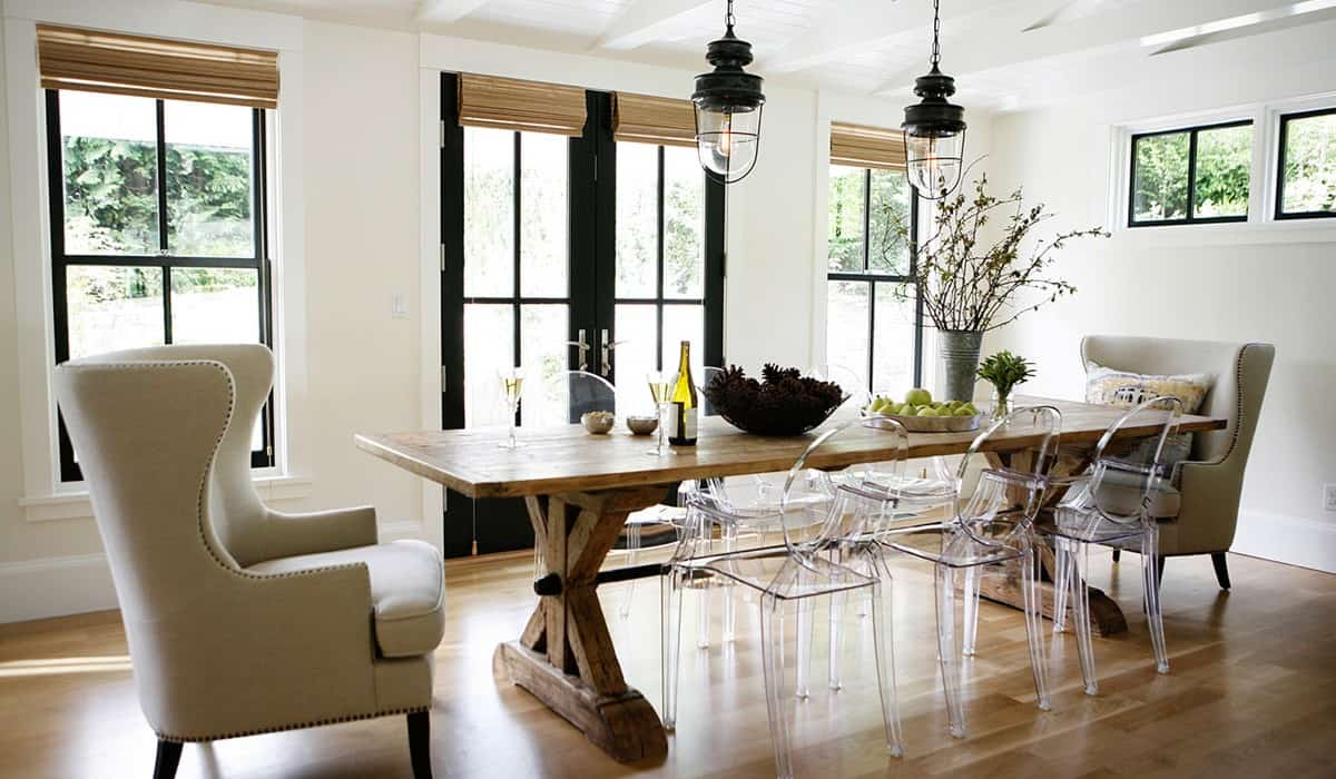 rustic simple Quirky rustic dining table decorating trends