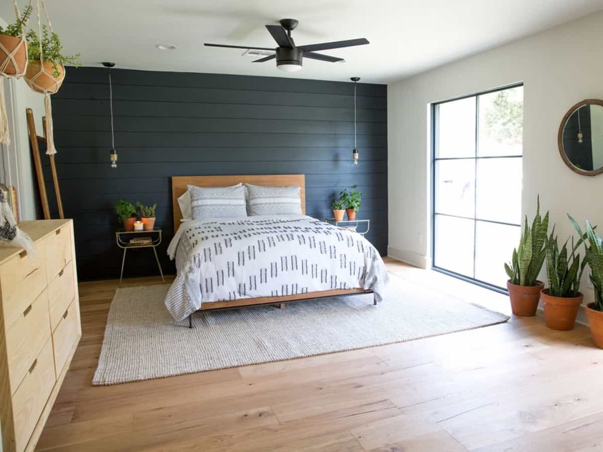shiplap in bedroom
