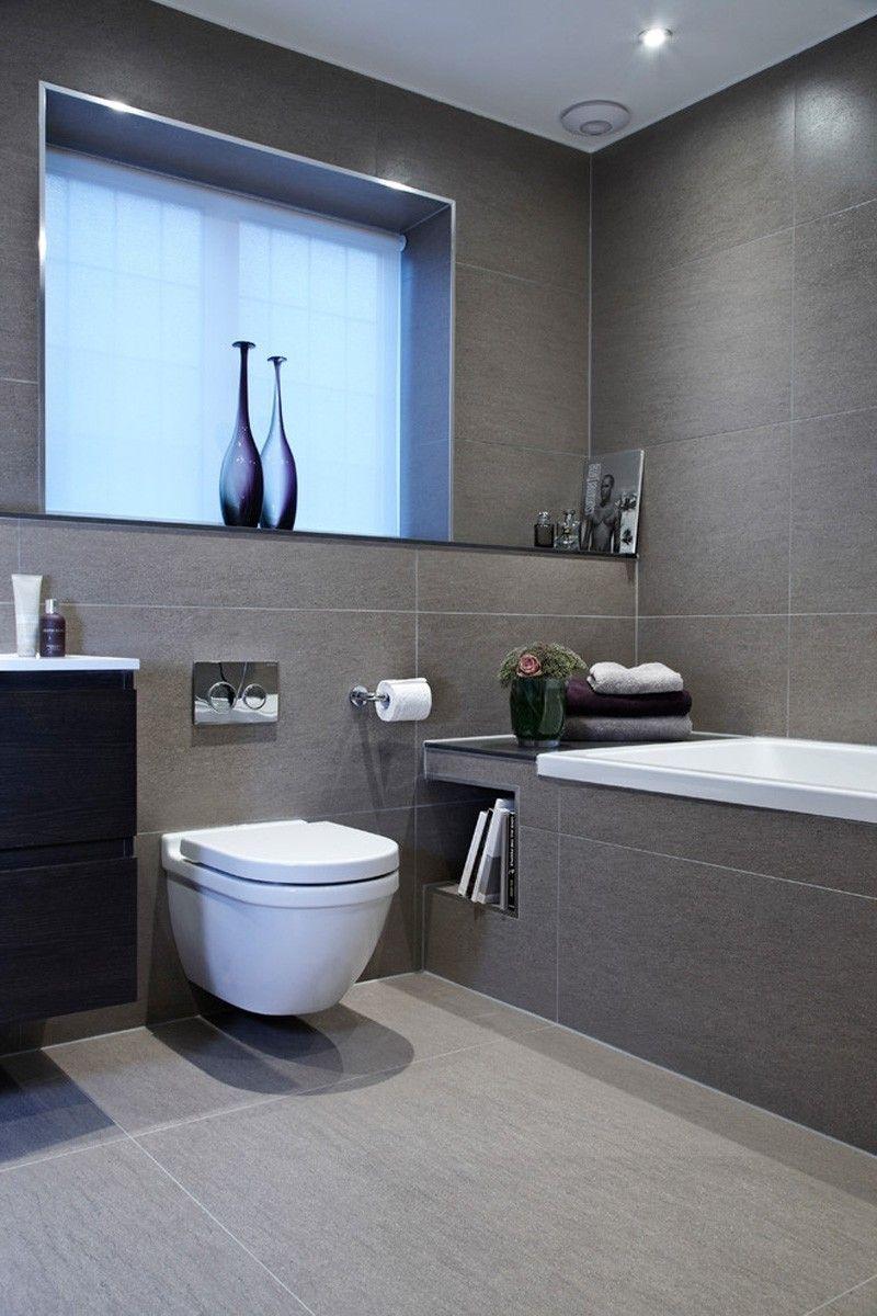 sleek bathroom