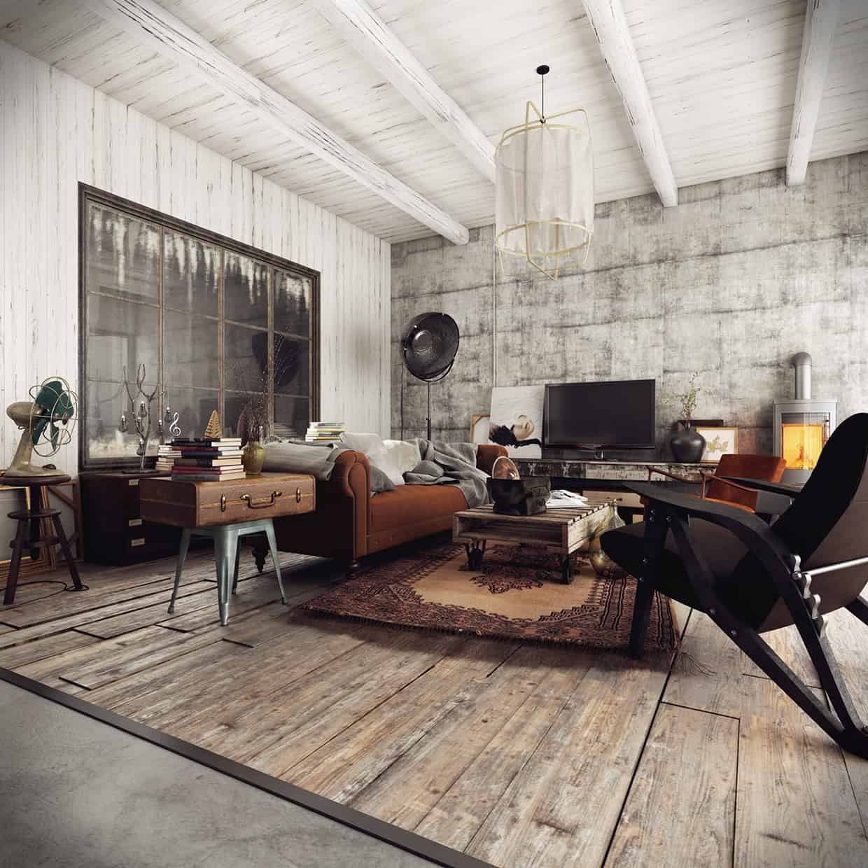 Cool Rustic Industrial Living Room Ideas To Inspire Download Free Architecture Designs Scobabritishbridgeorg