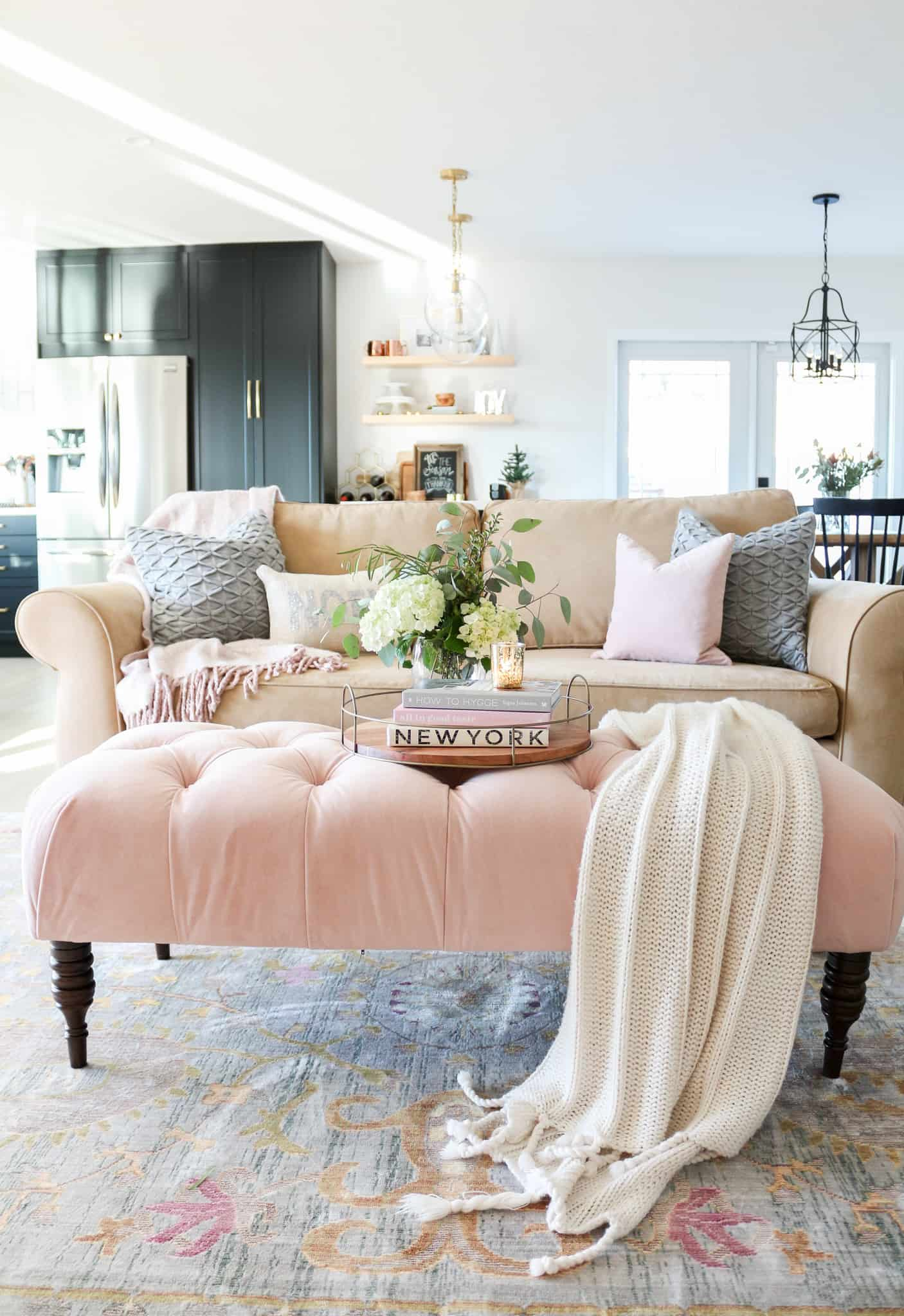 accents of blush pink