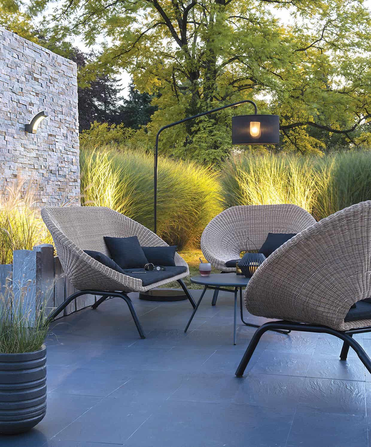 backyard with seating