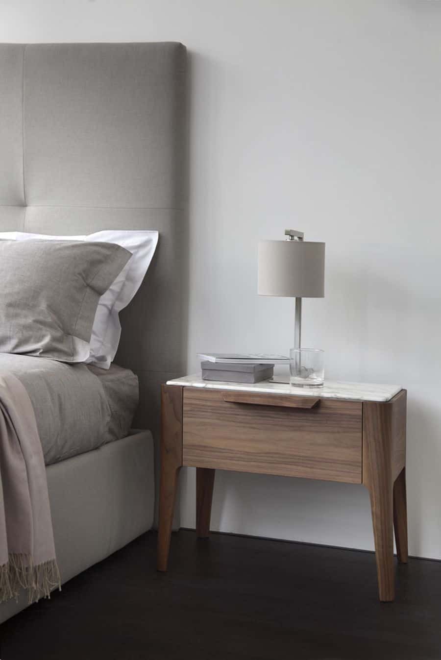 bedside wood table