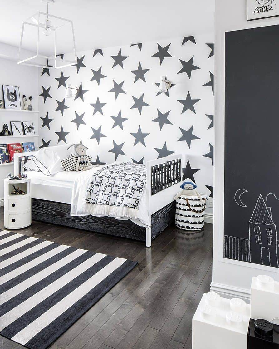 black and white kids room Crazy Cool Kids Bedroom Ideas