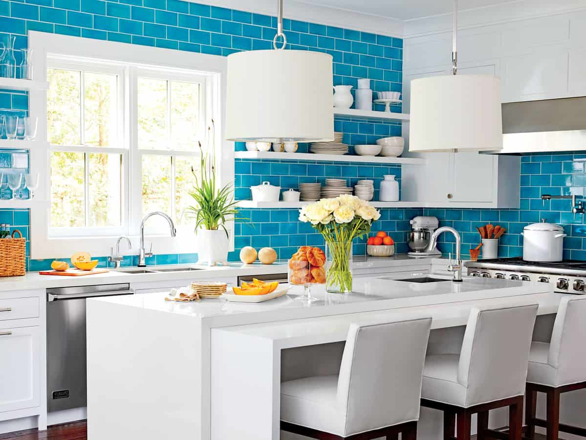 bright hues kitchen