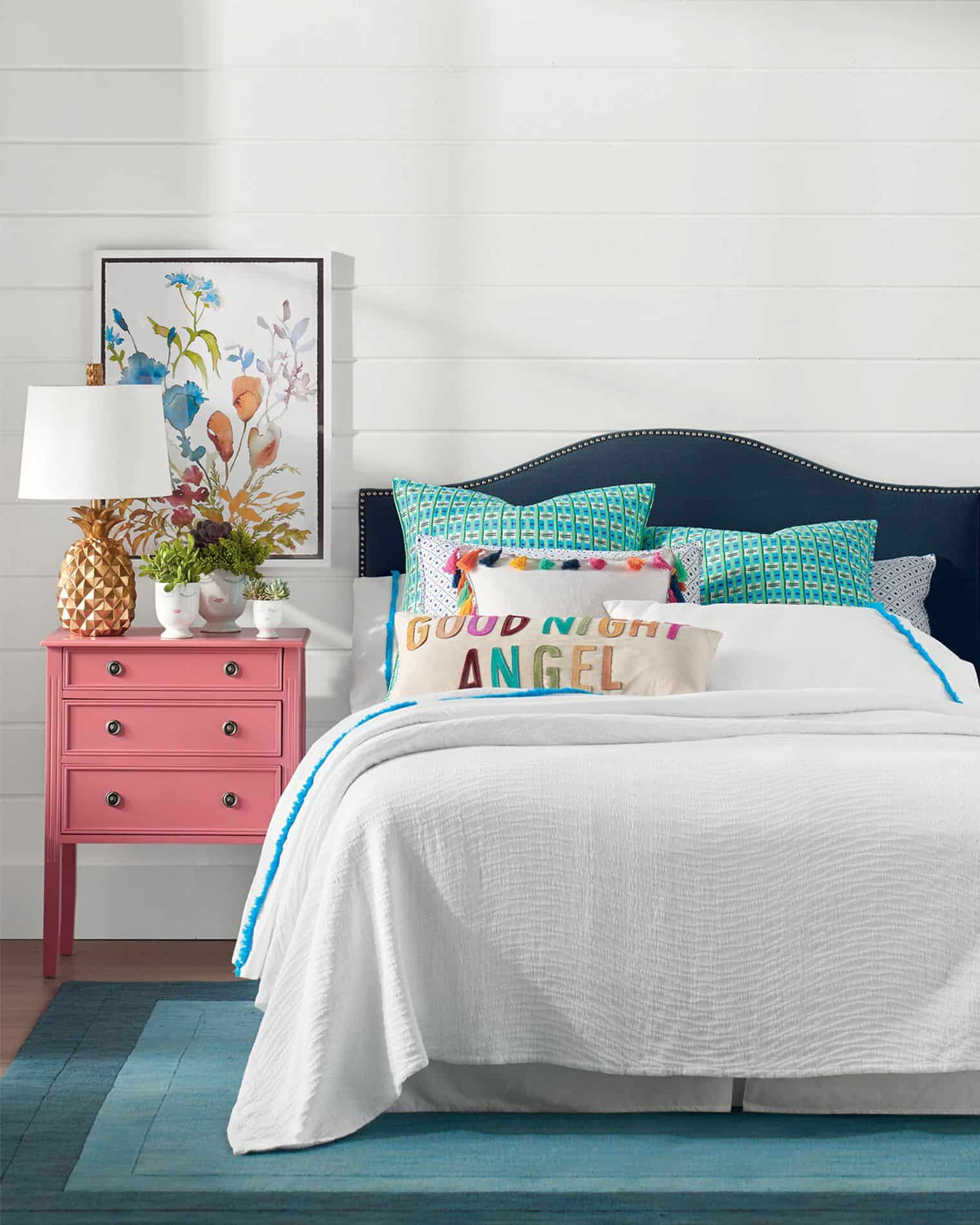 colorful bedside