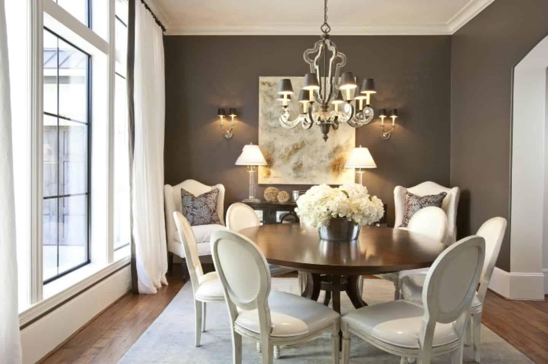 crisp lines in dining room