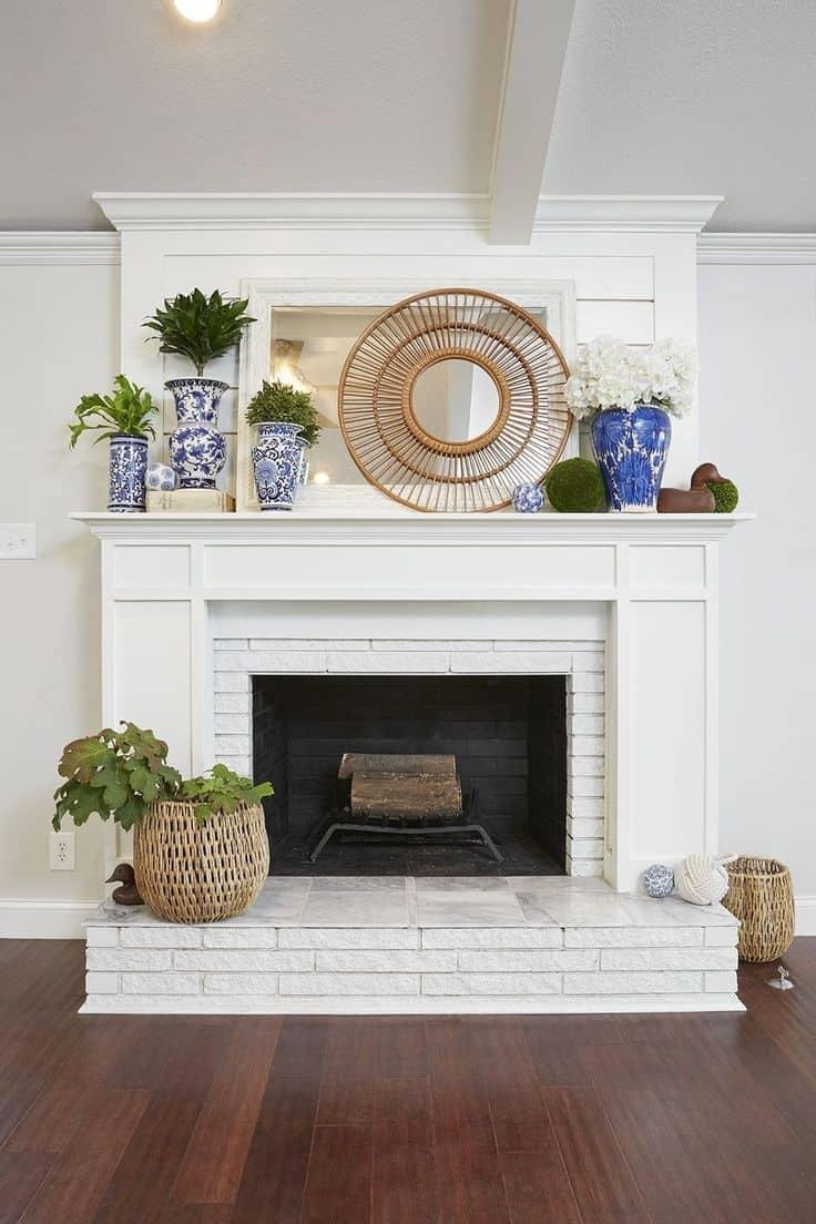 farmhouse fireplace mantel ideas Beautiful Best 25 Farmhouse fireplace mantels ideas on Pinterest