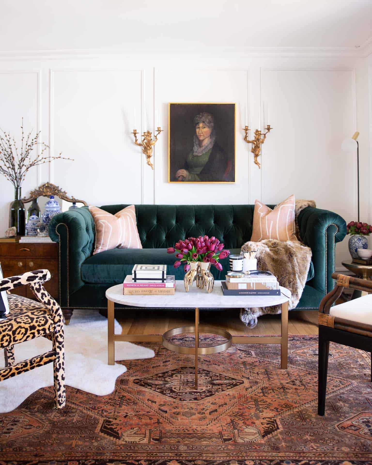 jewel tones in lviing room