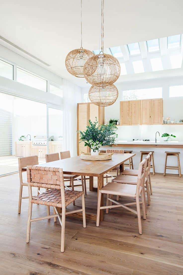neuturals in dining room Summer Home décor trends that will be seen everywhere