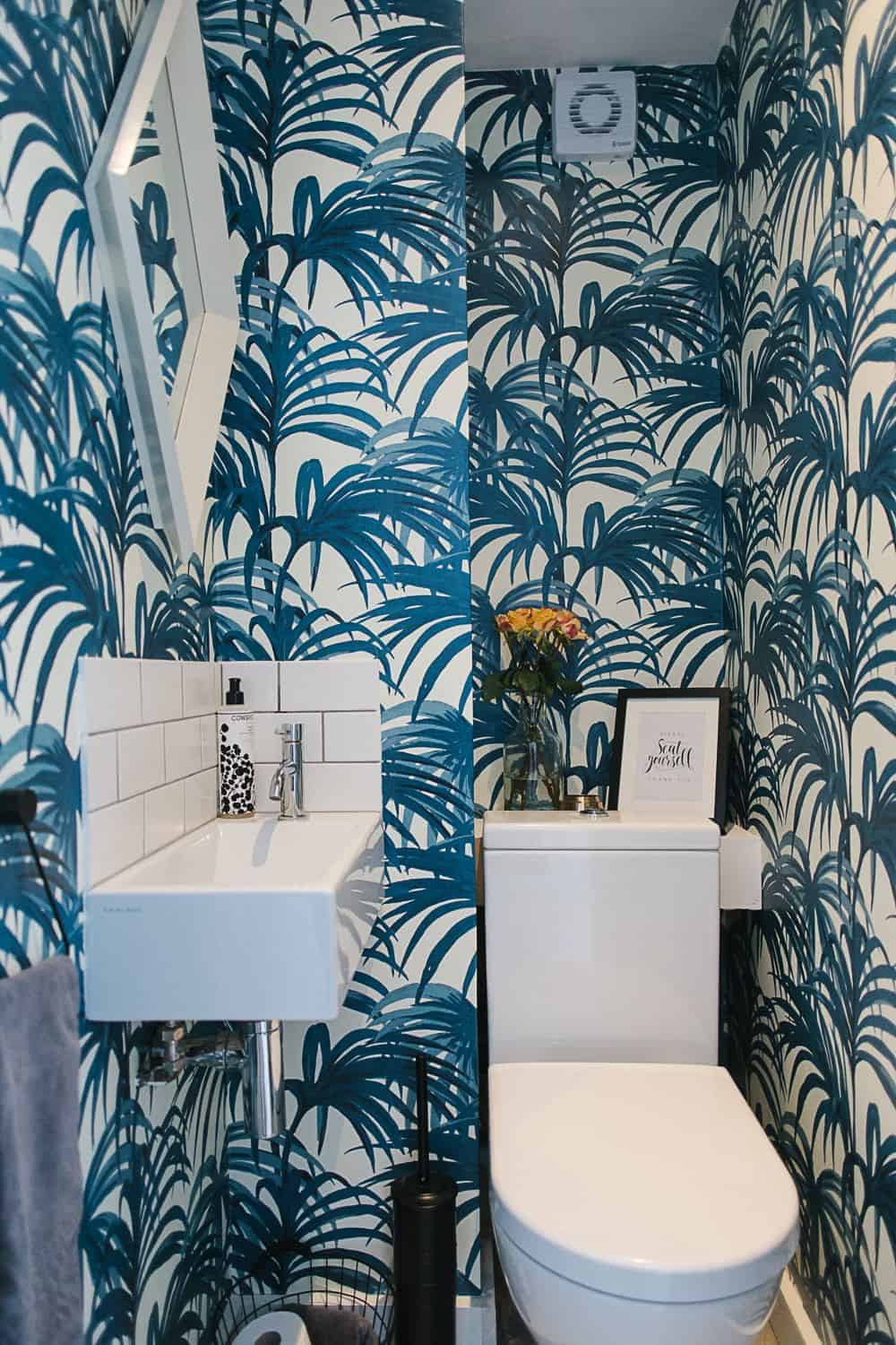 palm tree wallpaper Powder Room Decorating Ideas That Are Anything But Boring