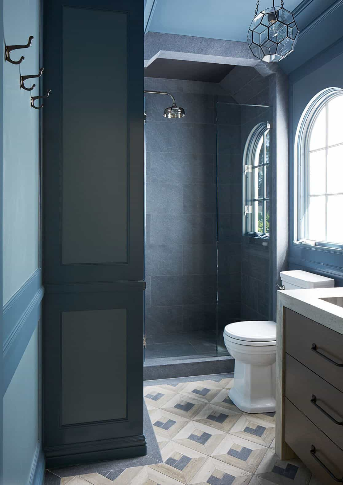 paneled wall bathroom
