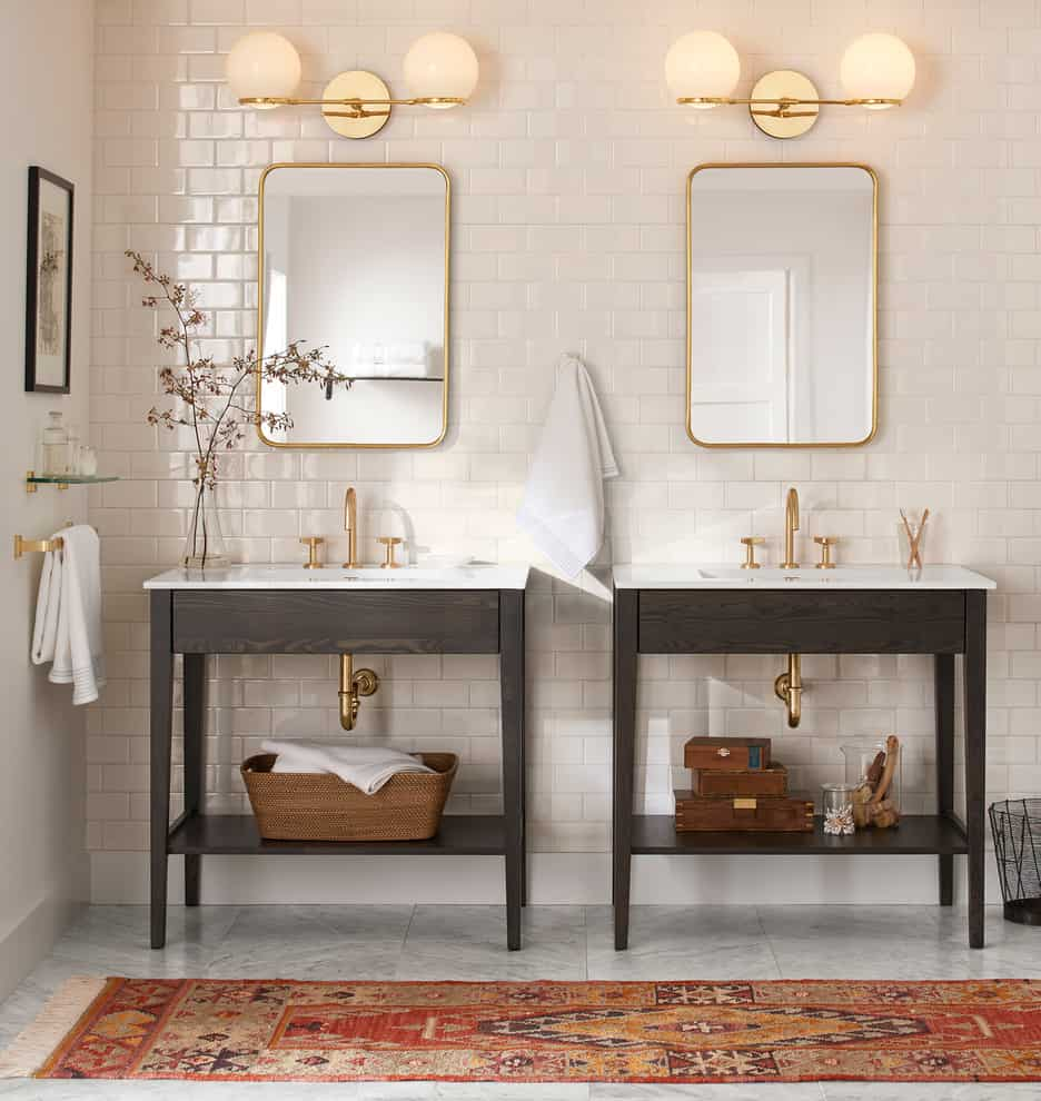 rounded mirrr in bathroom Bathroom remodeling ideas that are taking over 2019