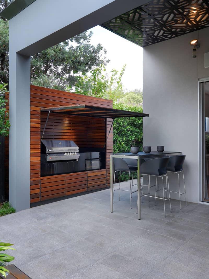 simple grill area