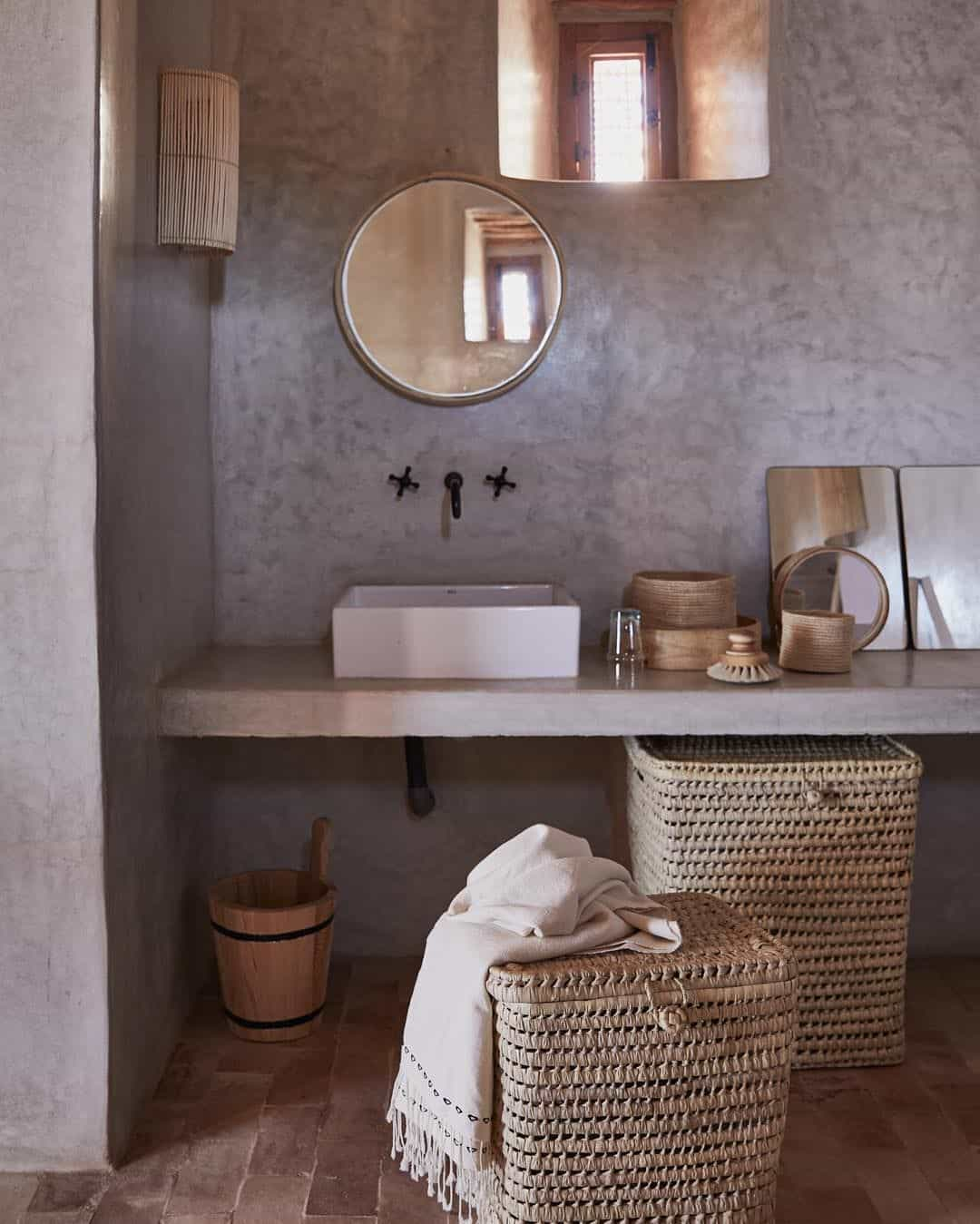 small baskets with woven baskets Small Bathroom Design Ideas That Enhance The Size