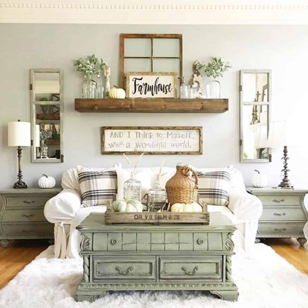 soft farmhouse livng room
