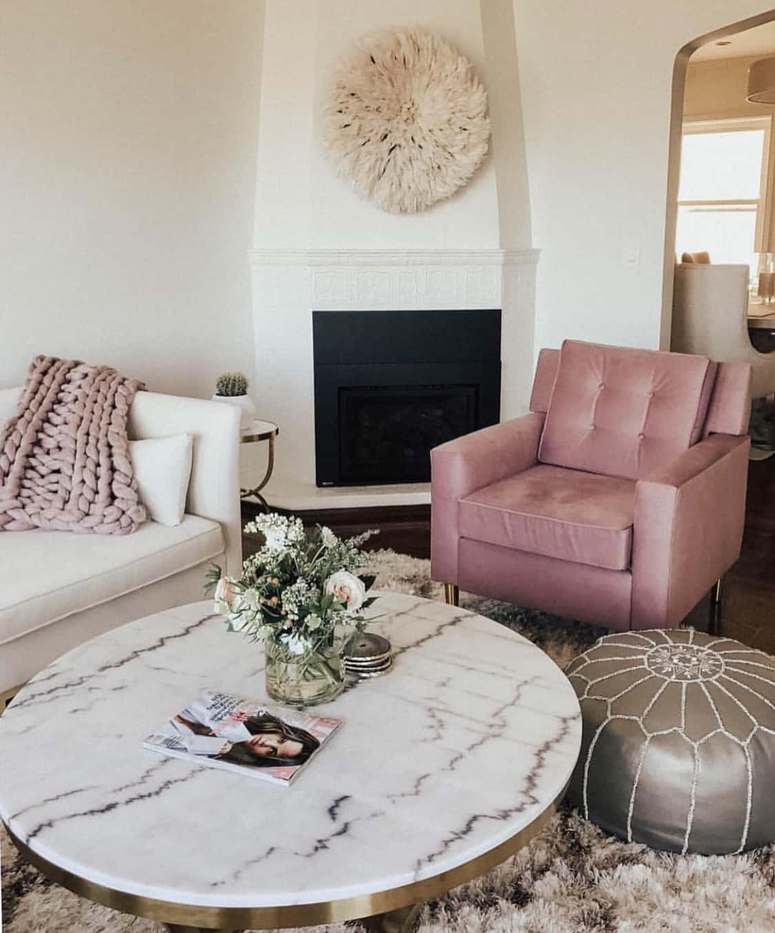 dusty rose chairs Living room decorating ideas you'll want in your home ASAP
