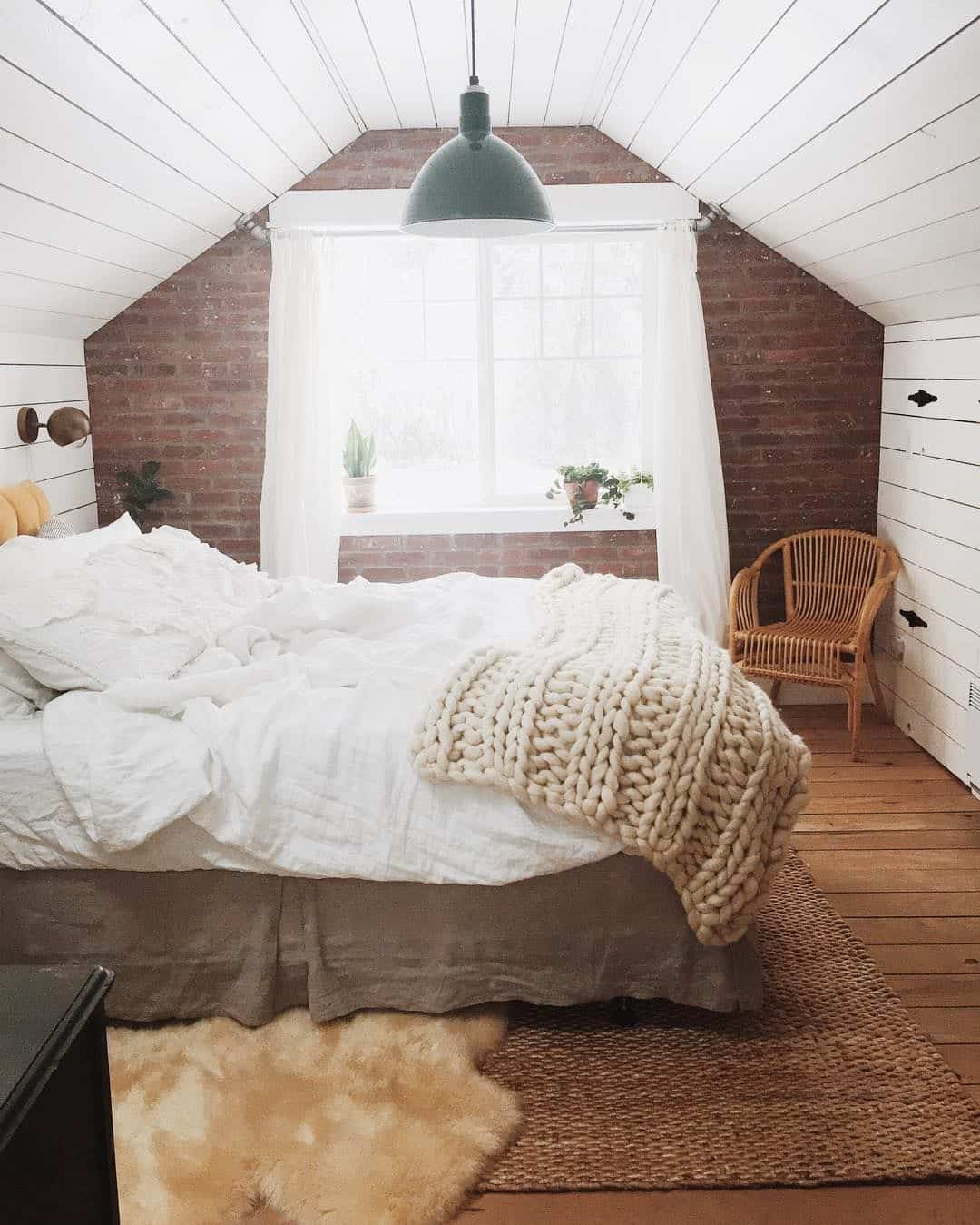 guest bedroom with attic